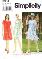 Simplicity 8054 Flyaway Duster Coat & Sleeveless Sheath Dress Sewing Pattern Plus Size 18-22 B40-44 Uncut
