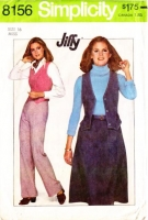 Simplicity 8156 Fitted Vest, Back-zip Skirt & Pants Sewing Pattern 16 Waist 30 Uncut NO INSTRUCTIONS