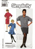 """Simplicity 8228 Stretch Knit Polo Dress with Flared Skirt Sewing Pattern 12-18 B34-40"""" Uncut"""