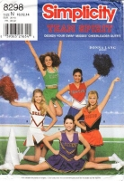 "Simplicity 8298 Pleated Cheerleading Costume Skirt with Sleeveless V-Neck Top Sewing Pattern 10-14 B32-36"" Uncut"