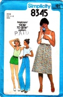 "Simplicity 8345 Drawstring Pull-on Pants, Shorts & Skirt Sewing Pattern 6-8 Waist 23-24"" Uncut"