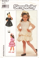 Simplicity 8367 Girls Fancy Tiered Bubble Ruffle Party Dress Sewing Pattern 5 Used