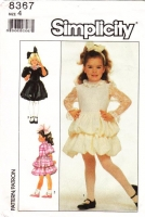 Simplicity 8367 Girls Fancy Tiered Bubble Ruffle Party Dress Sewing Pattern 4 Used