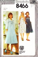 Simplicity 8466 Tent Style Sundress or Jumper Dress Sewing Pattern 14 B36 Uncut