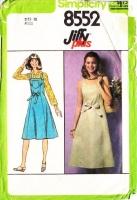 Simplicity 8552 Summer Sundress, Wrap Jumper Dress Sewing Pattern 10 B32 Used
