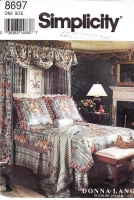 Simplicity 8697 Customize Your Bedroom Make Your Own Duvet, Dust Ruffle, Romantic Canopy & Valance Sewing Pattern Uncut