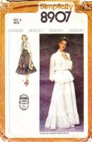 Simplicity 8907 Romantic Boho Gunne Sax Long Sleeve Top & Maxi Skirt Wedding Dress Sewing Pattern 6 B31 Uncut