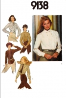 "Simplicity 9138 Long Sleeve, Button Front, Plus Size Shirt Sewing Pattern 18-20 B40-42"" Uncut"