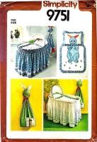Simplicity 9751 Crib Basket Skirt, Basket Liner, Comforter & Diaper Stacker Sewing Pattern Uncut