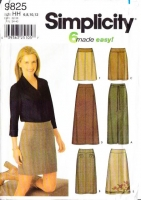 "Simplicity 9825 Slim A-Line Above Knee, Midi, & Maxi Skirt Set Sewing Pattern 6-12 Waist 23-26½"" Uncut"