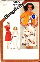 "Simplicity 9892 Fit & Flared Summer Sundress & Cropped Bolero Jacket Sewing Pattern 14 B36"" Used"
