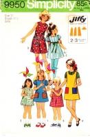 Simplicity 9950 Girls' Jiffy Dress Sewing Pattern 10 Uncut