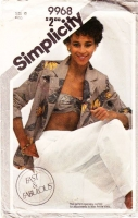 """Simplicity 9968 Sexy Bias Cut Bandeau Top, Pull-on Pants, & Jacket Sewing Pattern 12 B34"""" Used"""