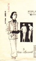 "Spadea 1051 50s Vera Maxwell 50s Boxy Jacket & Slim Straight Skirt Sewing Pattern 12 B34"" Used"