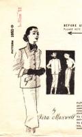 "Spadea 1051 50s Vera Maxwell 50s Boxy Jacket & Slim Straight Skirt Sewing Pattern 12 B34"" Used"