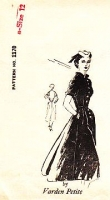 "Spadea 1170 Varden Petites 1950s Fit & Flare Shirtwaist Dress Sewing Pattern 12 B35"" Used"