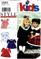 Style 2683 Design Your Own Fancy Toddler Party Dress Sewing Pattern .5-4 Uncut