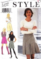 "Style 2863 Thigh Length Inverted Pleat Skirt Sewing Pattern 6-16 Waist 23-30"" Uncut"