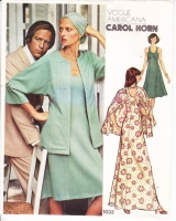 "Vogue 1032 U Necked, Fit & Flare, Knee or Maxi Dress & Jacket Sewing Pattern 12 B34"" Uncut"