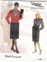 Vogue 1089 Adele Simpson, Jacket, Blouse, Skirt Suit Sewing Pattern 8 B31
