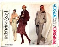 Vogue 1749 Yves Saint Laurent Jacket, Pants, Skirt Sewing Pattern 14 B36