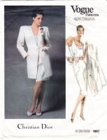 Vogue 1867 Christian Dior Jacket, Top, Skirt Suit Sewing Pattern 10 B32 Uncut