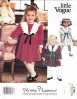 Vogue 2177 Toddlers' Sailor Collar Dress Sewing Pattern 2-4 Uncut