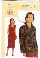 Vogue 7537 Sheath Dress & Jacket Sewing Pattern B38-43 Uncut