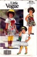 Vogue 8016 Girls Jumper Dress Leggings Pattern 1