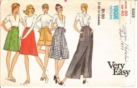 Vogue 8523 70s Skirt Sewing Pattern W30