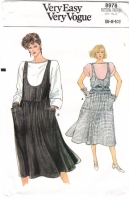 Vogue 8978 80s Drop Shoulder Blouse, Jumper Dress Sewing Pattern 6-10 B32-36 Uncut