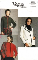 "Vogue 9382 Semi-fitted Hip Length Jacket Sewing Pattern 12-16 B34-38"" Uncut"