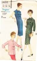 Vogue 9633 50s Asian-inspired Tunic or Dress Sewing Pattern 14 B34
