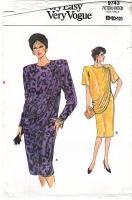 Vogue 9743 Draped Bodice Dress Sewing Pattern 8-12 B31-34 Uncut