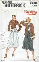 Butterick 6669 Jacket, Blouse, Skirt Sewing Pattern 10 B32 Uncut