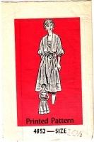 Mail Order 4852 Sundress & Jacket Dress Sewing Pattern Half Size 14.5 B37 Uncut