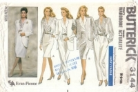 Butterick 3144 Jacket Blouse Skirt & Pants Pattern 6 8 10 Uncut