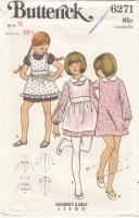 Butterick 6271 Girls Pinafore Dress Sewing Pattern 10 Uncut