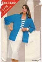 Butterick 5498 Pattern Jacket, Top & Skirt Vintage 80s Sewing Pattern 14-16 B36-40