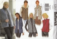 Butterick 3257 Misses Vest Loose-fitting, Lined Sizes 12 14 16