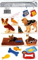 Butterick 4226 Pet Coat Bed Toy Socks Placemat Sewing Pattern Uncut