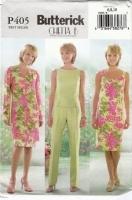 Butterick P405 Jacket, Sheath Dress, Top, Tapered Pants Sewing Pattern 6-10 B30-32 Uncut
