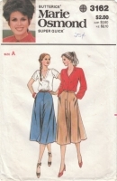 Butterick 3162 Marie Osmond VIntage 70s Skirt Pattern Sizes 8-10